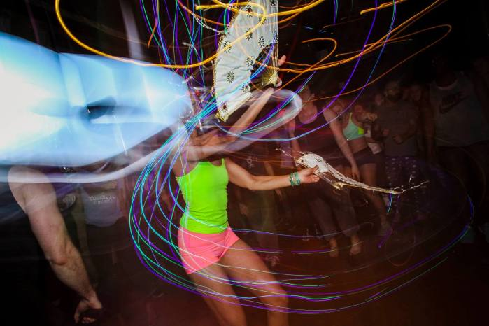 Fan Dancing, image courtesy of Daybreaker